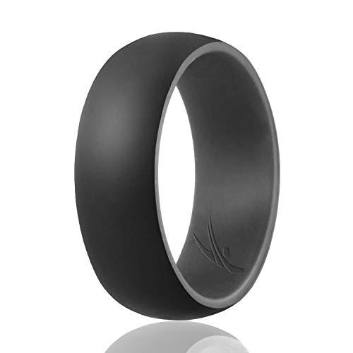 ROQ Ring - In Kürze, Dome: Grey, Black, 9.5 - 10 (19.8mm)