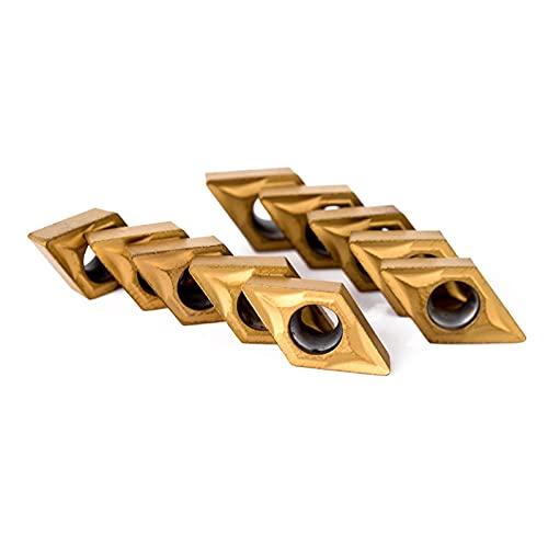 Cortador de fresado de superficie 10 piezas de inserción de carburo DCMT070204 + 4 piezas de 12 mm de laguero recto Barra de aburrimiento CNC Turno de herramientas de torno + 4 piezas de llaves