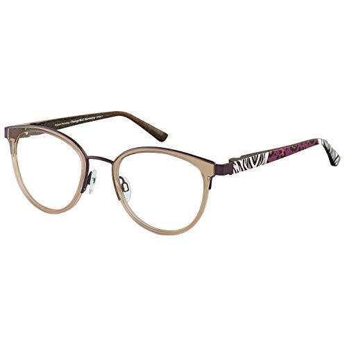 Change Me runde Brille 2530-1 mit Wechselbügel 8766-1 braun