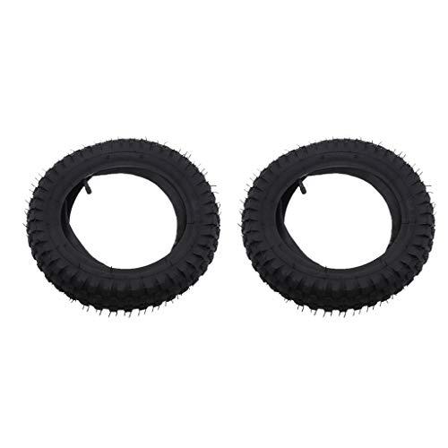 H HILABEE 2 STK. 12,5 x 2,75'' Innenrohr Reifen Schlauch mit Metall Geradem Ventilschaft für Razor MX350/ 400, Hohe Qualität, Langlebig