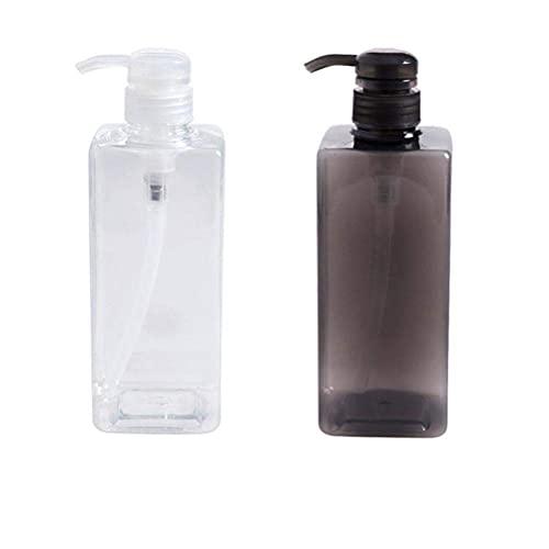 CXJC Champú botellas de plástico con bomba, rellenable de gran capacidad respetuoso con el medio ambiente y duradero, para la dispensación de muestras de emulsión