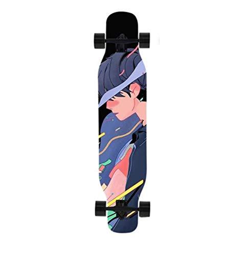 ZHNA Skateboard, Longboard for Anfänger Fachrat, Standard 4-Rad Brush Street Skateboard for Junge Leute