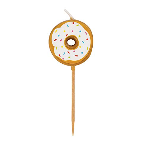 Unique Party 19989 - Donut Party Pick Birthday Candles, Pack of 6