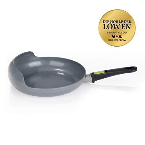 Easy Pan-zwenkpan Green Edition | afneembare handgreep, milieuvriendelijke coating met pareleffect, geschikt voor alle warmtebronnen, tot 250 °C ovenbestendig | krasbestendig, PFOA-vrij