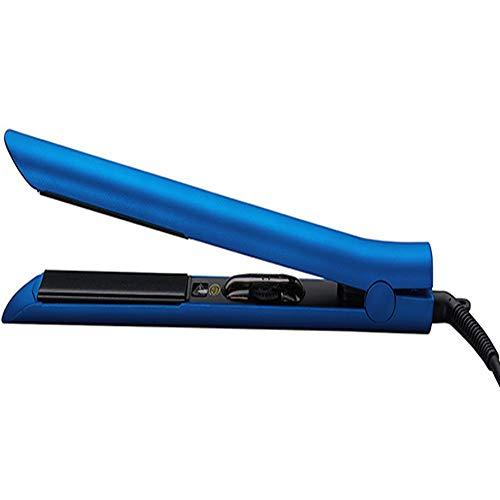 Curl Fer à lisser professionnel 2 en 1 à vapeur pour cheveux réglable Tourmaline Revêtement Température Arrêt automatique 27cm bleu