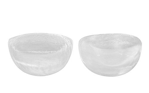 SODACODA - 130 g / par - Suave sensación real de silicona Insertos de los reforzadores del pecho para los sujetadores trajes de baño y bikini - escisión naturales adecuadas para A, B , C y D Copas - Claro
