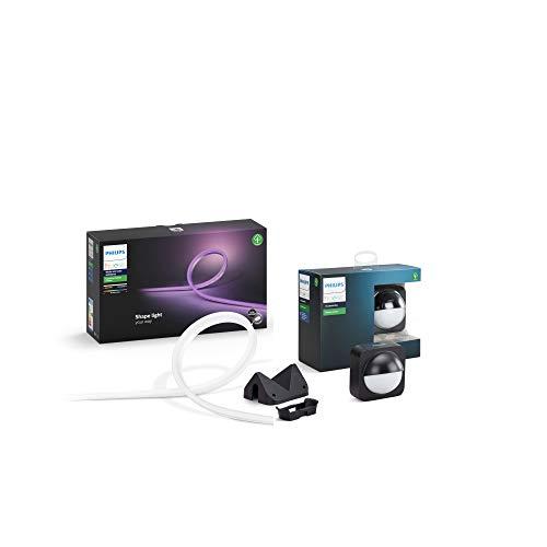 Philips Lighting Hue Outdoor Lightstrip Striscia LED, 5 m + Philips Hue Sensore di Movimento da Esterno