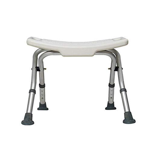 unknow Tragbarer Faltbarer Aluminium-Badhocker Duschhocker Badezimmersitz Duschstuhl Badehilfe für ältere Menschen mit Behinderung und Behinderung Badesitzbank Schwangere Frauen Stuhl
