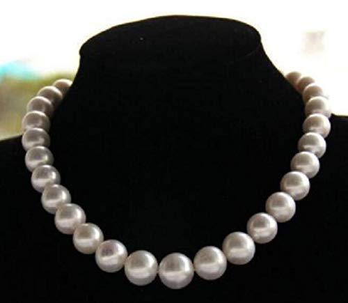 YMKCMC Halskette edles Schmuckstück 10-11Mm e Südsee-Perlenkette Aus Tahiti, 45 cm, 14 Kt, 45 cm, Weiß