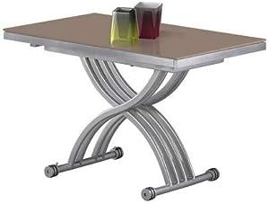 giovanni marchesi design Table Basse RELEVABLE Zen Verre Cappuccino