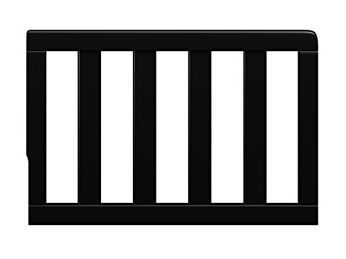 Storkcraft Toddler Guardrail, Black Safety Guard Rail for Convertible Crib & Toddler Bed