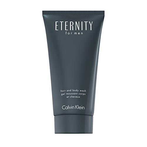 CALVIN KLEIN Eternity Hair and Body Wash for him, 2in1 Duschgel für Haare und Körper, holzig-aromatischer Duft, 150 ml