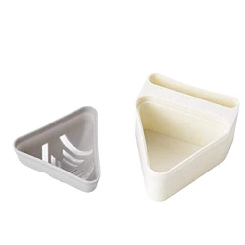 N-B Portátil Triangle Puff Holder Transpirable Maquillaje Esponja Caja de Almacenamiento Herramientas de Maquillaje