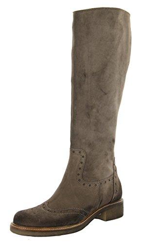 Donna Piu Damen Stiefel mit Kreppsohle Velour grau EU 36