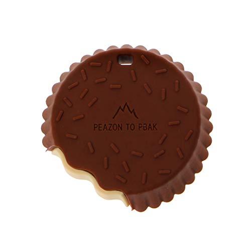 Lyguy Baby bijtring, 1 stuk siliconen biscuit bijtring baby kauwspeelgoed Bpa gratis siliconen koekje bijtring fopspeen clip verpleegkundige hanger