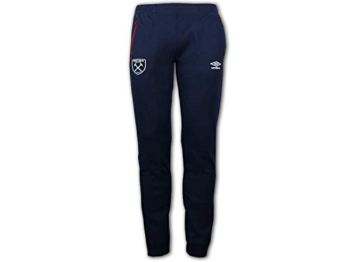 UMBRO West Ham United Pro Fleece broek blauw WUFC vrije tijd sportbroek turnbroek