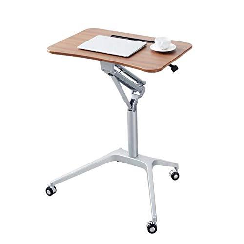 QNMM Scrivania Mobile per Laptop, Carrello Portacomputer con Ruote con Supporto a Molla a Gas, Altezza Regolabile da 29,5'a 41,3', per Ufficio Medico Domestico