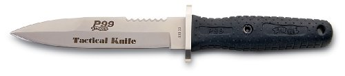 Tactical Knife von Walther P 99 mit feststehender Spearpoint-Klinge und Sägeverzahnung inkl. Spezialmesserscheide
