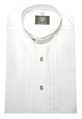 Orbis Textil Stehkragen Trachtenhemd Weiss L