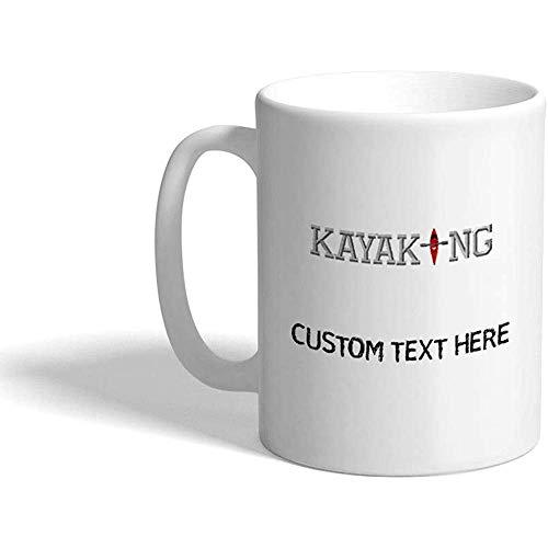 Tazza di caffè personalizzata 330 ml Kayaking B Sport Tazza da tè in ceramica Testo personalizzato