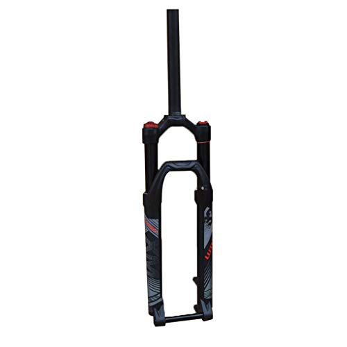 WHQ MTB Suspension Forks Mountain Bike 26 27.5 Inch, Air Suspension Fork Straight Tube 1-1/8' Disc Steerer Tube Travel 120mm (Color : Black, Size : 27.5 INCH)