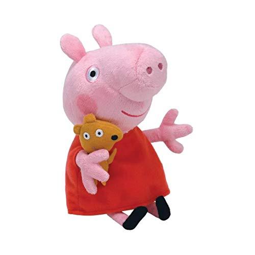 Peppa Pig Pelúcia 30cm - Peppa Varinha e Coroa - Original