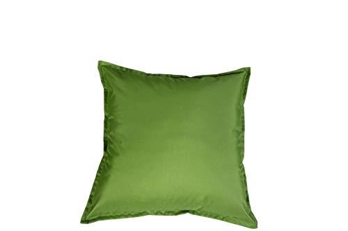 EHD - Fundas de cojín impermeables para muebles de jardín, asientos interiores y exteriores, totalmente impermeables, 100% microfibra de poliéster resistente al agua., verde claro, 45 x 45 cm