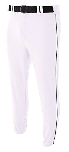 A4 N6178-WHB Pro-Style Elastic Bottom Baseball Pants, Medium