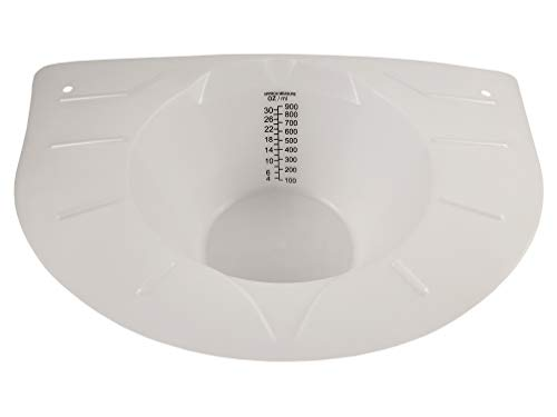 Lakeshore Trade Specimen Collection Pan (Hat)—30 Oz. /900 ml Easy Read Graduations—Fits Toilets and Commodes (1)