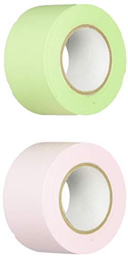 ポストイット 付箋 全面粘着ロール 25mm×10m 2巻セット(ピンク&グリーン) 詰め替え用