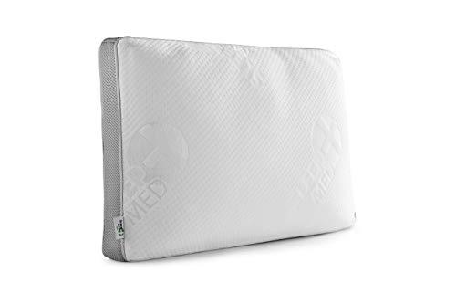 SLEEPMED Kopfkissen Memory Schaum kühlend, Nackenkissen mit waschbarem und atmungsaktivem Bezug, hypoallergenes Nackenstützkissen, 60 x 40 x 12 cm