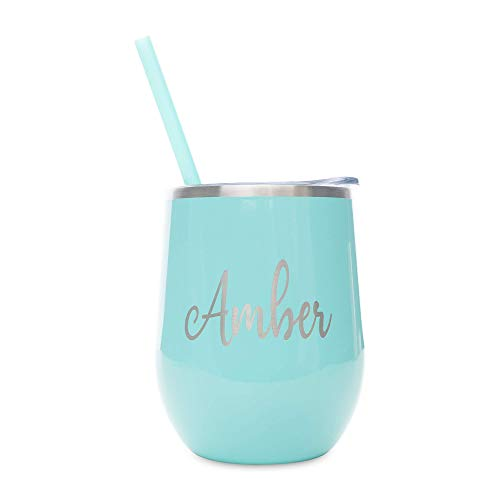 Stainless-Steel Tumbler For Wine and Coffee, Personalized...
