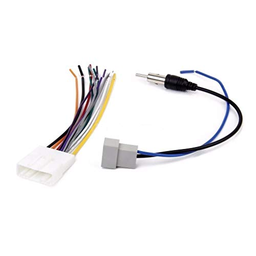 RED WOLF Car Auto Radio Speaker Wire Harness and Antenna Adapter Cable Connector for Select 2007-2013 Nissan Infiniti Murano