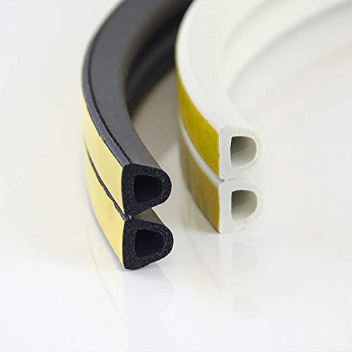 50m GUMMIDICHTUNG D-Profil SCHWARZ 14mm selbstklebend Fensterdichtung Türdichtung Gummi Dichtung Dichtungsband Profildichtung