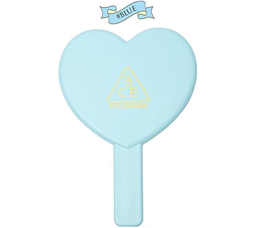 お父さんスケッチぴったり3CE LOVE 3CE HEART HAND MIRROR (BLUE) / ラブ3CEハート?ハンド?ミラー (ブルー)[並行輸入品]