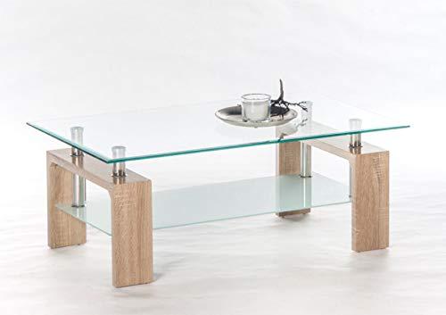 Couchtisch Mango 2 16775 Wohnzimmertisch Tisch Glastisch Eiche Sonoma