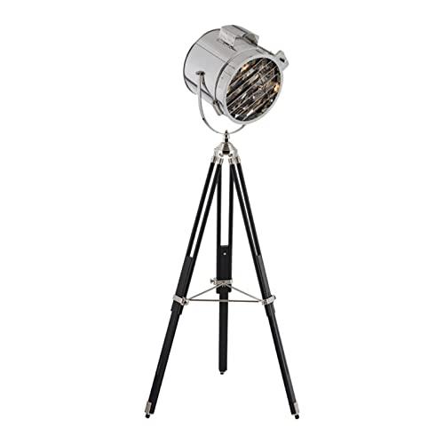 HXJU Lámparas de trípode de pie, Reflector, Luces de Escenario, lámpara de pie Moderna de Metal, lámpara de pie para Salas de Estar y dormitorios Silver