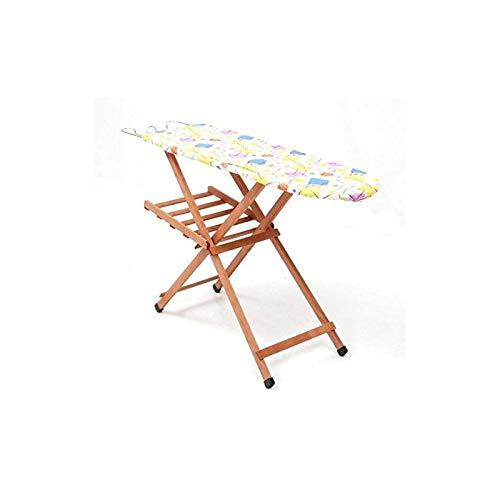 Table à repasser Miriam en bois de hêtre, 120 x 35 cm, planche réglable sur 3 hauteurs