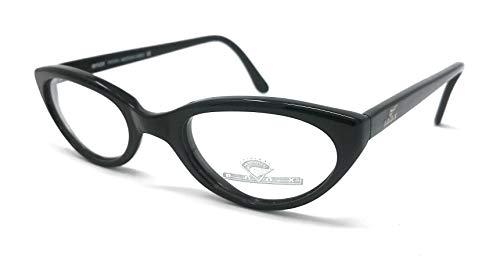 Enox - Gafas de visión para mujer 158 510 negro Cat Eye ojo de gato vintage