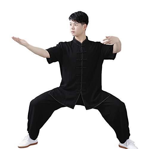 Muy comodo: El estilo oriental de los uniformes chinos tradicionales es muy elogiado por muchos.Son cómodas y se adaptan al estilo occidental. Sienta genial: No te preocupes por rasgar un traje deportivo cuando juegas con baja actitud o alta patada.L...