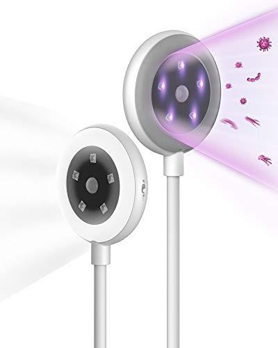 Esterilizador UV Portátil, Lampara de lectura, 59S UV Esterilizador, Lámpara de Esterilización Ultravioleta Profesional y Lámpara LED para Teléfonos Celulares y Cuidado Personal