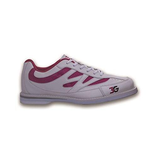 Bowlerstore Products 3G Damen Kicks Bowling-Schuhe, Weiß/Pink (40,5 M), Weiß/Rosa