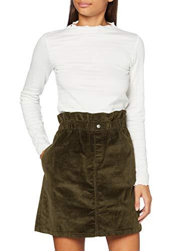 Noisy may Damen NMJUDO HW Paperbag Corduroy Skirt NOOS Rock, Kalamata, M