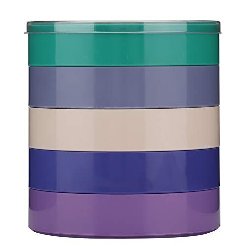 Bicaquu Uhrenzubehör Aufbewahrungsbox Kleinteile organisieren 5 Schichten Uhrenteile Box Schindeln Premium Kunststoff Schlagfest Schule für Home Office Work Shop(Round)