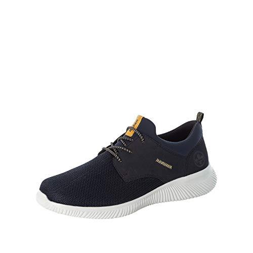 Rieker Hombre Zapatos Bajos B7471, de Caballero Bajo,Zapatos Bajos,Zapatos de Calle,de Ocio,Deportivos,Azul (Blau / 14),43 EU / 9 EU