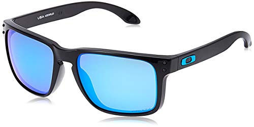 Oakley Men's OO9417 Holbrook XL Sunglasses, Polished Black/Prizm Sapphire, 59 mm