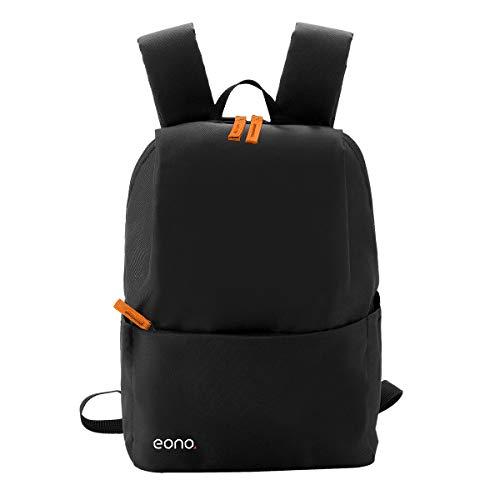 Eono Essentials, zaino ultraleggero unisex, stile casual, capacità 10 L, impermeabile, multiuso per trekking, attività all'aperto, viaggi (Nera)