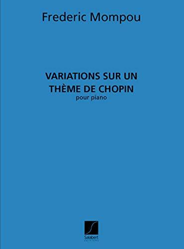 Klassieke noten Salabert Mumpou – variaties op chopin – piano