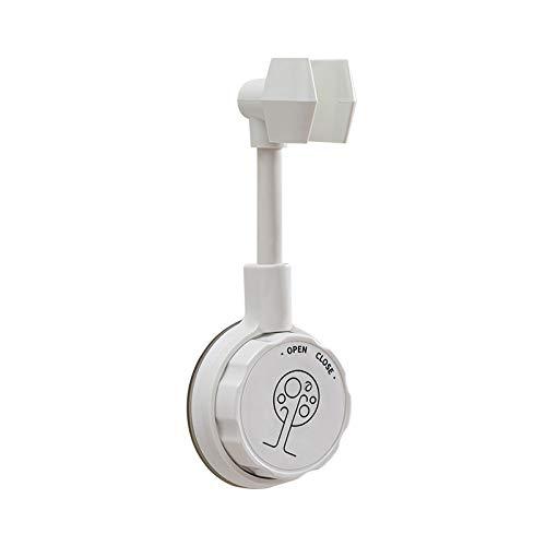 QLINDGK Soporte de cabezal de ducha de mano, sin perforación, ventosa reubicable, soporte de pared giratorio ajustable de 360 °, apto para baños y cocinas