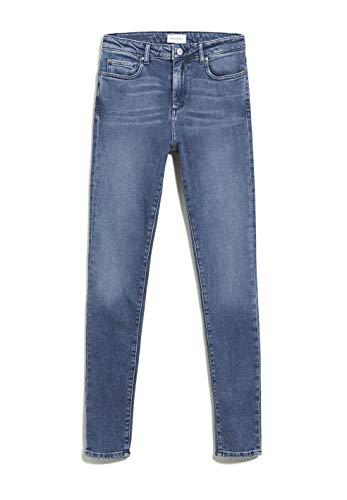 ARMEDANGELS TILLAA - Damen Jeans aus Bio-Baumwoll Mix 28/32 Stone Wash Denims / 5 Pockets Skinny Skinny Fit